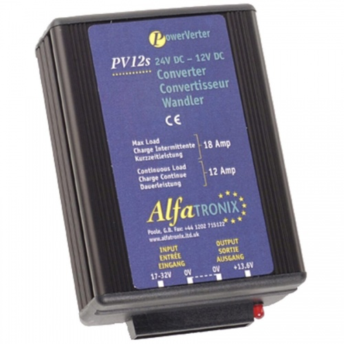 Alfatronix Pv12s 24vdc To 12vdc Converter Non-isolated (common Earth) - 12a Continuous 18a Intermittent