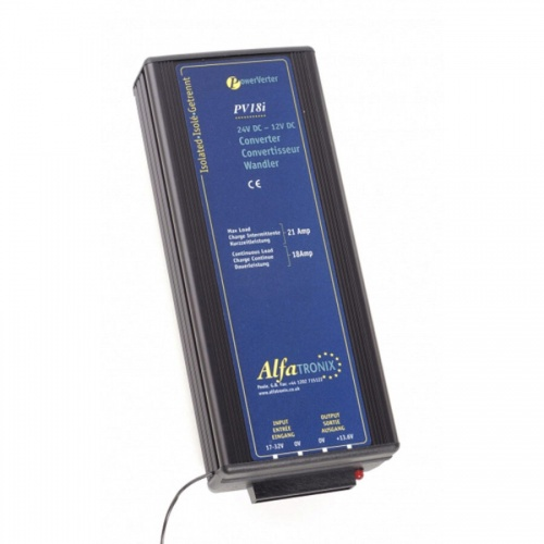 Alfatronix Pv18i 24vdc To 12vdc Converter - Isolated Input To Output - 18a Continuous 21a Intermittent