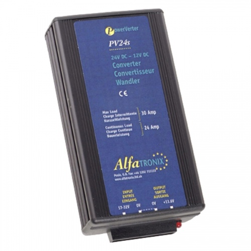 Alfatronix Pv24s 24vdc To 12vdc Converter Non-isolated (common Earth) - 24a Continuous 30a Intermittent