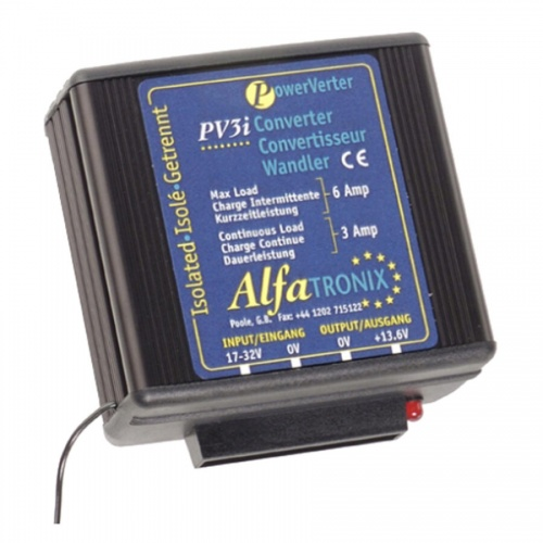 Alfatronix Pv3i 24vdc To 12vdc Converter - Isolated Input To Output - 3a Continuous 6a Intermittent