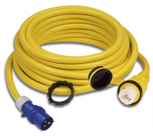 Cordset, 32A 230V, 15M, With European Plug, Yellow