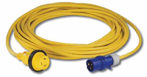 Cordset, 16A 230V, 10M, With European Plug, Yellow