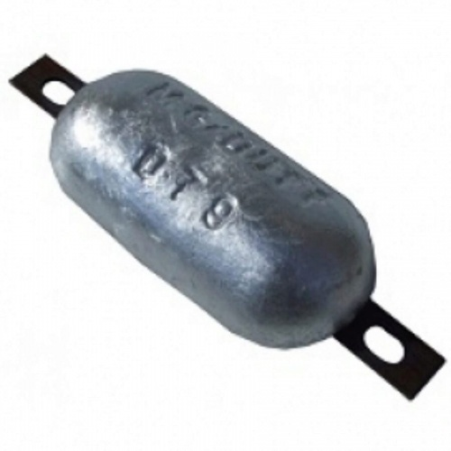 Aluminium Hull Anode Bolt On - 1.3 Kgs Nom Net Weight 200 MM Bolt Centres