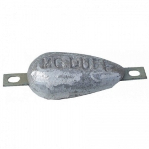 Magnesium Hull Anode Bolt On - 0.8 Kgs Nom Net Weight 200 MM Bolt Centres