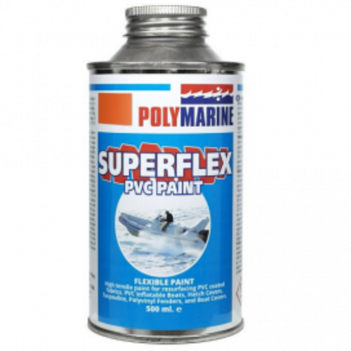 PVC 'Superflex' Flexible Paint - 500ml Tin Black