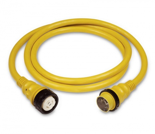 Cordset, 50A 125/250V, 75', Yellow