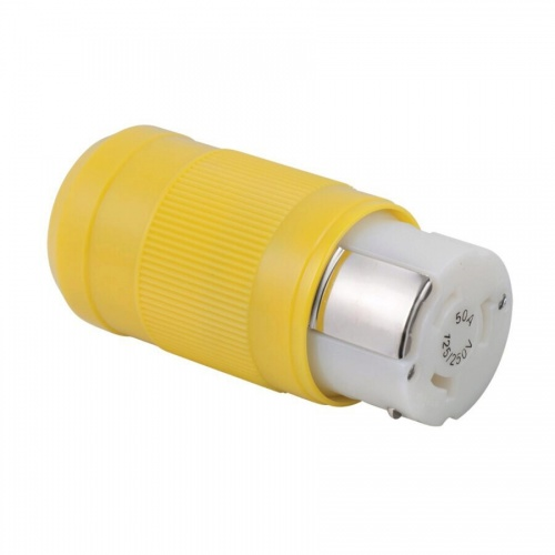 Female Connector, 50A 125/250V, Yellow