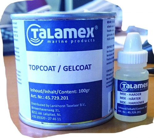 Topcoat Transparent 100gr + 6gr Mek