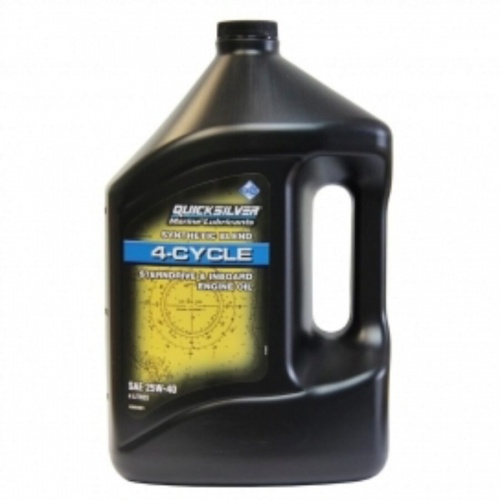 Quicksilver 4 Cyl Synth Outboard Oil 1ltr - Low Phos SAE 20W40
