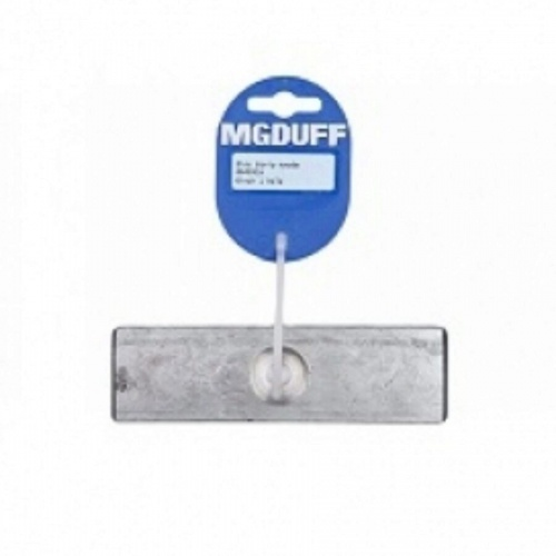 Zinc Strip Anode 6Inch Drilled One Hole
