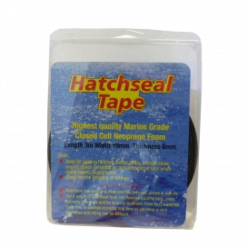 3m x 19mm x 3mm - Black Hatchseal Tape