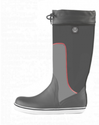 Maindeck tall grey rubber boot Size 12