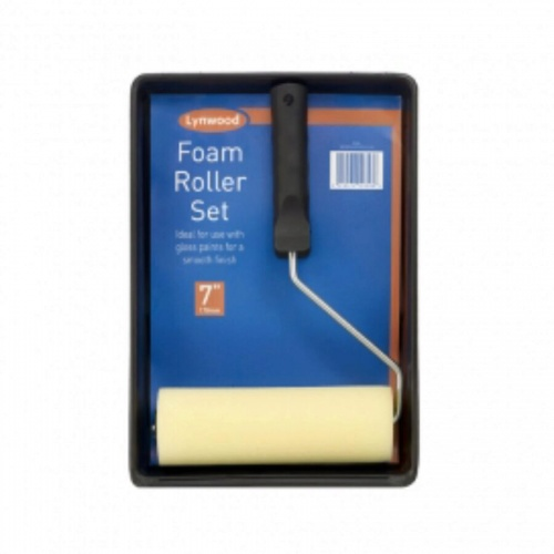 Roller with Foam sleeve set 7''