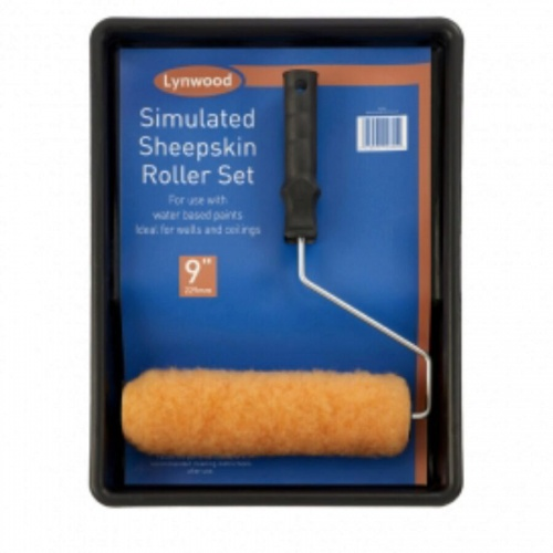 9in Simulated Sheepskin Roller Set