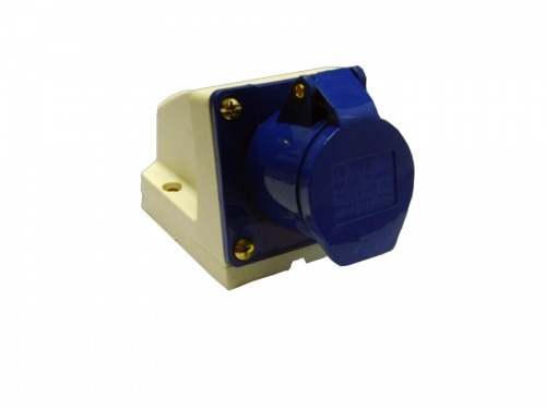 Industrial Socket 16A 220-250VAC 2P+EIP44 Blue
