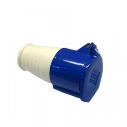 Industrial Connector (Female) 16A 220-250VAC 2P+E IP44 Blue