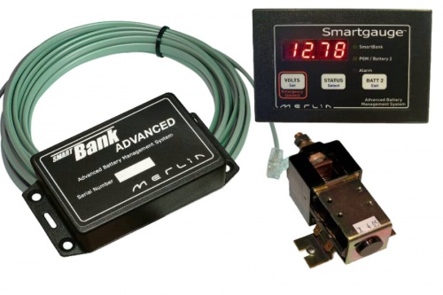 Merlin Smartbank 12V 200A 3 Battery With Gauge