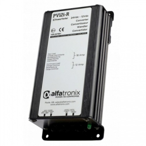 Alfatronix Pv12i-ru 24vdc To 12vdc Converter - Isolated Input To Output - 12a Continuous 18a Intermittent