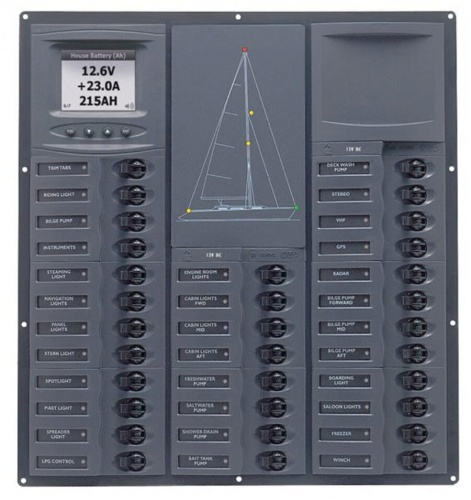 BEP 12v Dc Circuit Breaker Panel 32 Way Cruiser Digital (NC32Y-DCSM)