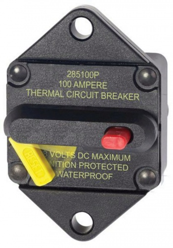 Blue Sea 285  Panel Mount Circuit Breaker 100a
