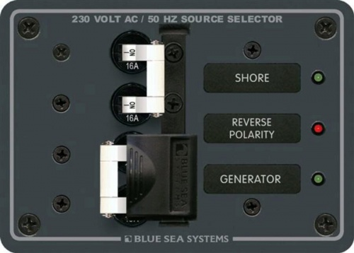 Blue Sea Panel 230vac Source Select 16a