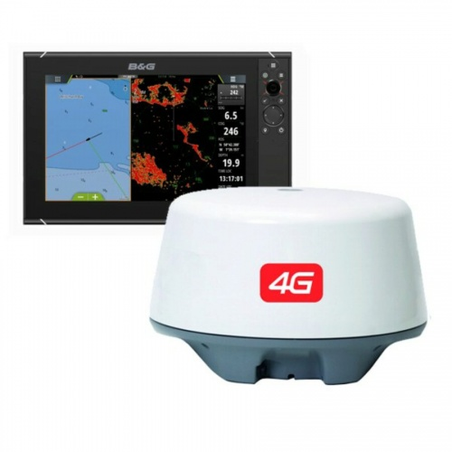 B&G ZEUS³ 12 Inch Multi-function Display With 4G Radar Bundle & World Wide Base Map