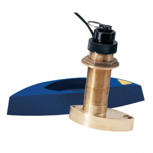 Garmin B744VL Bronze Thru-hull Mount Long Stem Transducer with Depth Temp & Speed (Inc faring block)