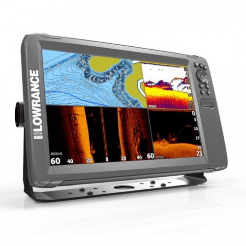 Lowrance HOOK 2-12 12 Inch Chart / Fishfinder With Triple Shot TR (Down & Side Scan)