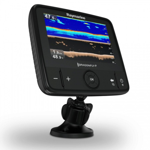Raymarine Dragonfly 7 Pro 7 Inch Sonar GPS with Down Vision Inc CPT-DVS Transducer. No Chart
