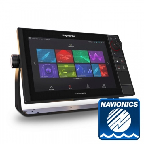 Raymarine Axiom 12 Pro-S HybridTouch 12 Inch MFD with intergrated High CHIRP Conical Sonar for CPT-S cw Nav+ Small DL