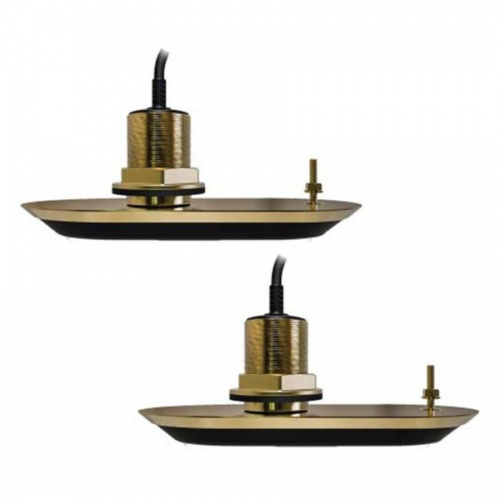 Raymarine RV-212 RealVision Thru-Hull Bronze 12Deg 3D Port & Starboard Pair of Transducers (10m Cable)
