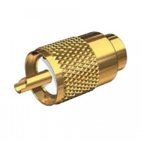 Gold Plated Pl259 Connector - Rg58 Cable