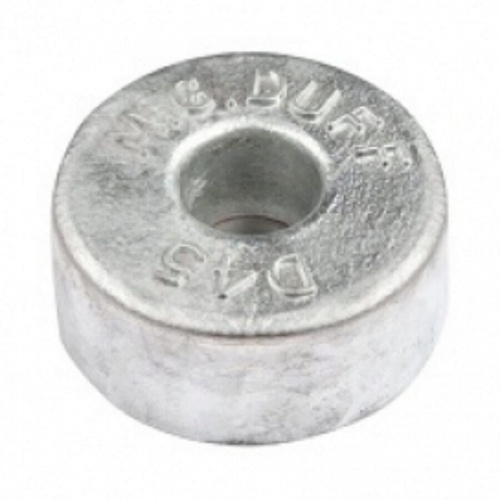 Zinc Hull Anode Bolt On - Disc 4.5 Kgs Nom Net Weight 130MM Dia