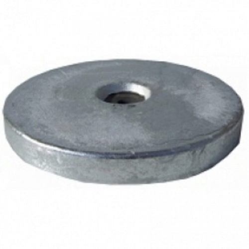 Aluminium Hull Anode Bolt On - Disc 2.8 Kgs Nom Net Weight 229MM Dia