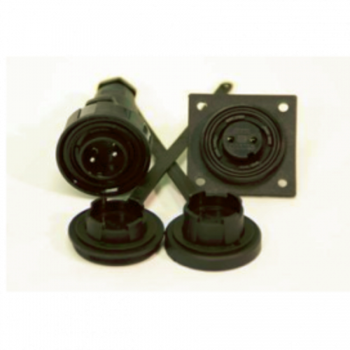 2 Pin Plug & Low-Flange Socket Kit