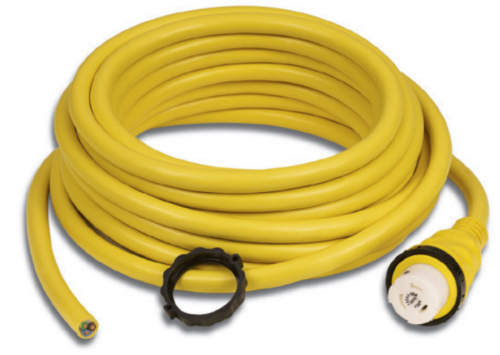 Cordset, 32A 230V, 50', Yellow