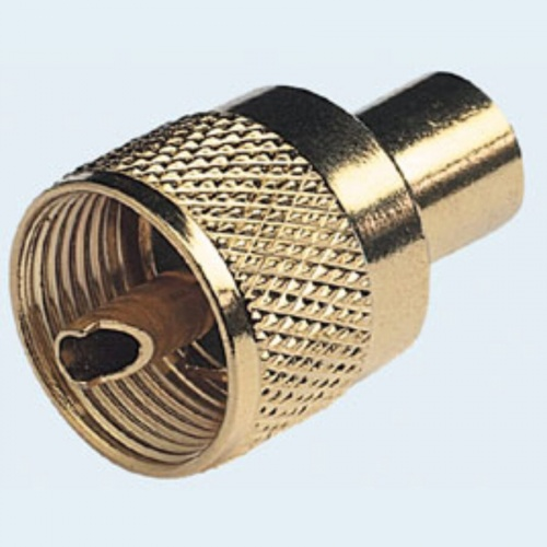 PL259 Connector Gold Plated Twist On ForRG58