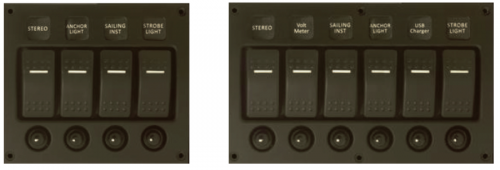 Streamline Water-resistant Switch Panel - 6P Curved Water-resistant LED with Circuit Breakers